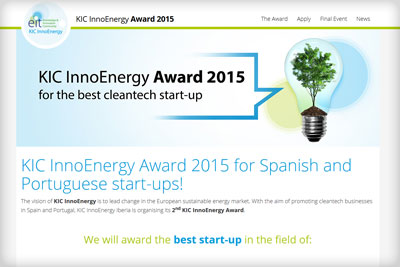 Web de KIC InnoEnergy Award